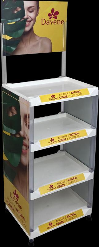 Display Expositor de Chão Injetado Guararema - Display Expositor em Acrílico