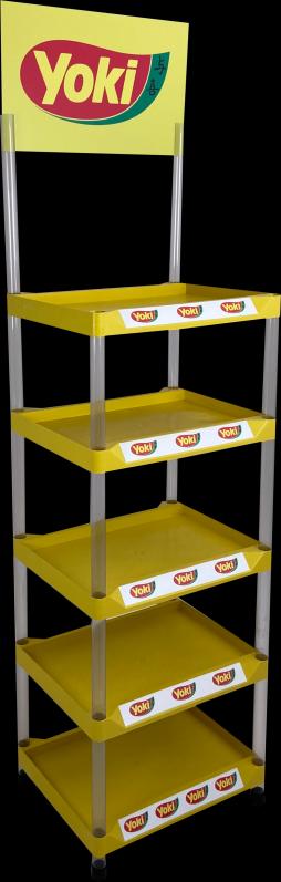Preço de Display Expositor de Plástico Injetado Lapa - Display Expositor em Acrílico