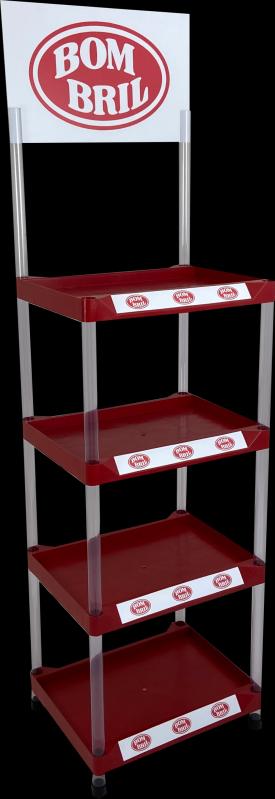 Quanto Custa Display Expositor de Chão Injetado Brás - Display Expositor em Acrílico
