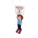 preço de dispenser de chão para álcool gel Carandiru