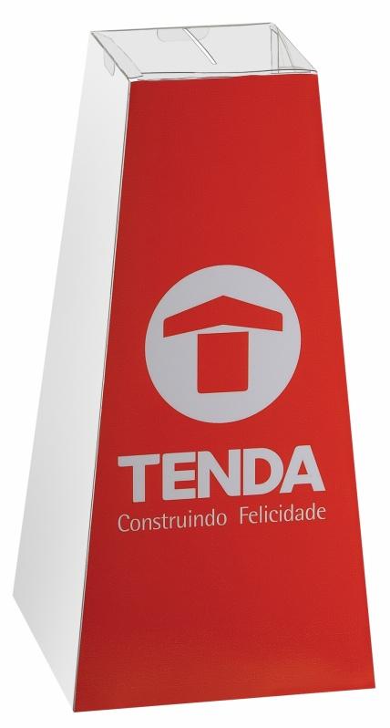Urna para Pesquisa de Satisfação Preço no Brasília - Urna Promocional de Pirâmide