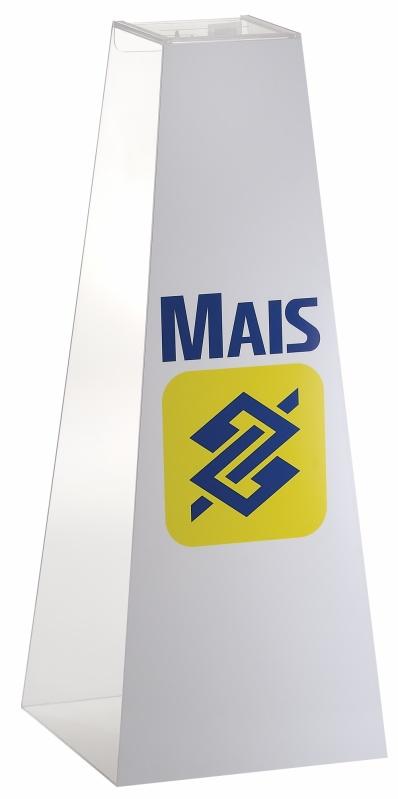 Urna Personalizada Preço na Vila Mariana - Urna Promocional de Pirâmide